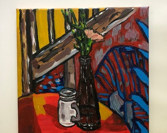 "12"" x 12"" Still life Original painting"
