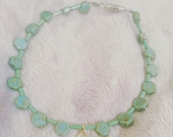 Sea Green Wishbone armband