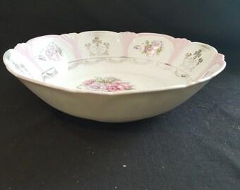 Vintage Flowered Bowl, 1950's*
