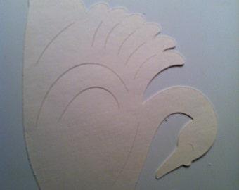 White Swan Die Cut