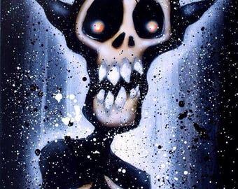 Original art goblin painting.