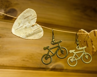 Bicycle Earrings FREE SHIPPING