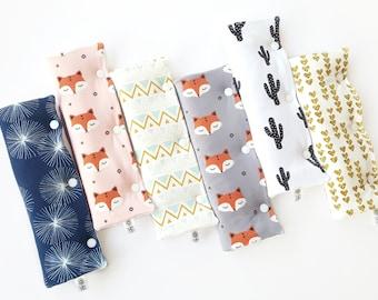 Covers for car seat belt strap neck organic cotton unique size child / adult