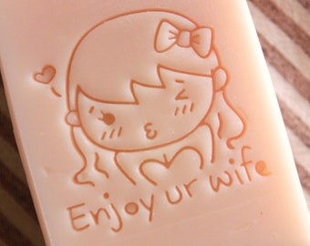 Ashuai soap-Acrylic soap stamp A45 enjoy ur wife (free shipping)