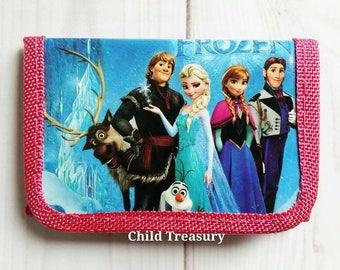 Frozen Wallet/Frozen Money Holder/Frozen Accessory/Character Wallet/Cartoon Wallet/Toddler Wallet/Pre-School Wallet/Children's Wallet