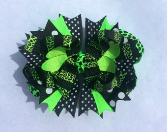 Green/Black Bow