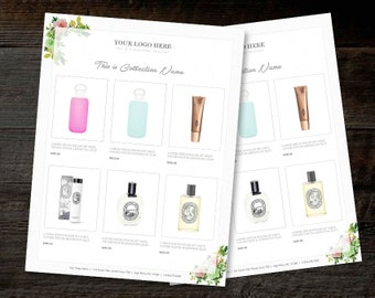 Line Sheet Wholesale Catalog Template Mini Product - Mini brochure template