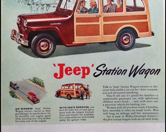 1948 Jeep Station Wagon Automobile Advertising Ad - Vintage Ad