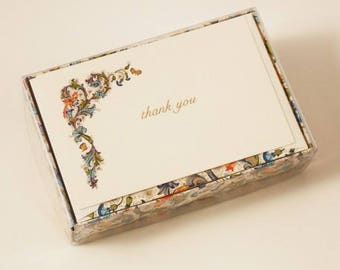 Bird Florentine Thank You Cards Italian Letterpress