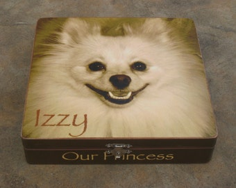 Pet Memorial Keepsake Box, Personalized Photo Keepsake Box, Unique Dog Memorial, Custom Cat Memorial, Pet Urn, Pet Gift Memory Box