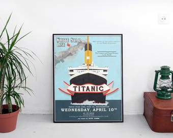 RMS Titanic Art Print - White Star Line Ad