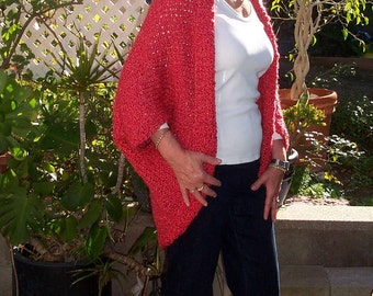 PDF Download Knit Pattern for the Ridiculously Easy Fashion Shrug - Sizes Small through 3X
