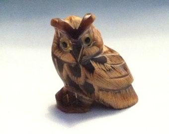 Vintage wood ? stone ? Owl beautiful deco