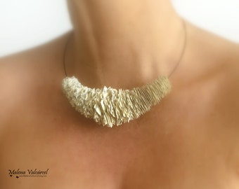 Statement Necklace - Paper Necklace - Paper Jewelry