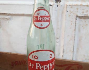 Vintage Dr. Pepper Soda ACL Bottle 10 2 4 10 Oz