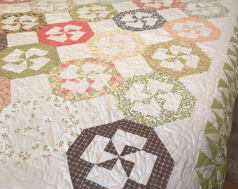 Fig Tree Quilt, pinwheels, twin quilt