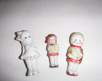 Bisque figurines made in Japan X 3