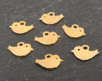 Gold Vermeil Tiny Bird Charm 5mm