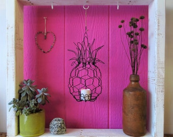 Candle Lantern, Pineapple, Handmade