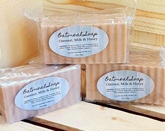 Oatmeal, Milk & Honey - Handmade, Oatmeal Soap, Glycerin Soap