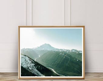 Mountain Photography, Mountain Print, Forest Print, Nature Print, Nature Wall Art, Sky Art, Wilderness, Instant Download
