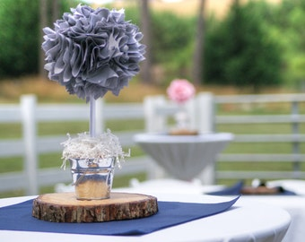 BABY SHOWER CENTERPIECE / Baptism Centerpiece / Gray centerpiece / Wedding centerpiece / Graduation centerpiece / Quinceanera centerpiece