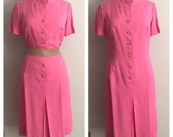 1960s Bubble Gum Pink Scooter Dress