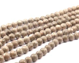Jasper 10mm Round Gemstone Beads Full Strand T021