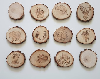 Willow wood coasters