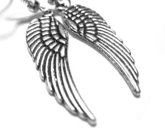 Angel Wing Jewelry - Art Nouveau Jewelry - Silver Angel Wing Earrings - Sterling Silver Wing Earrings 216