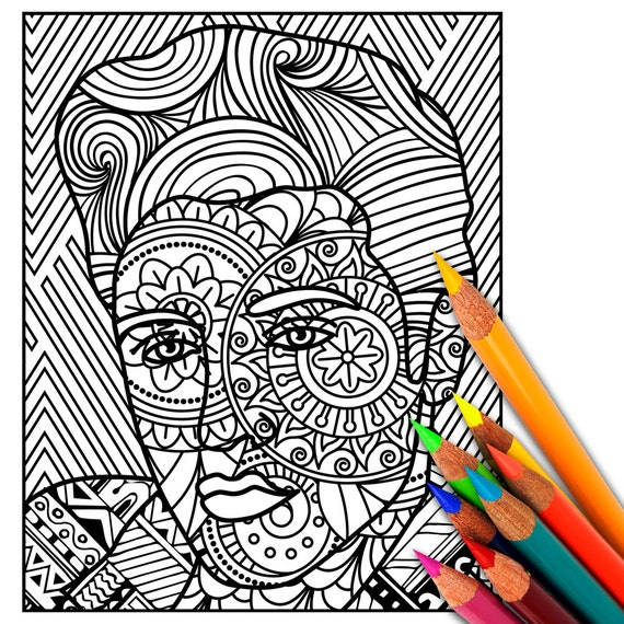 Elvis coloring page adult coloring page adult coloring