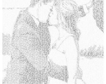 1st Anniversary First Dance Lyrics Wedding Vow Art  Paper Anniversary Gift Wedding Song Lyric Photo Gift on Art Paper 8.5x11