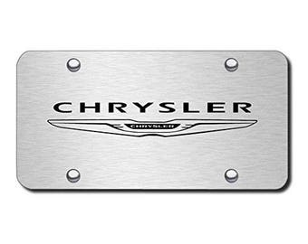 Chrome Chrysler License Plate