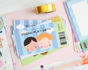 Kids Reward Coupons, 16 Gift Coupons for Kids, Stationery kids, for Boys