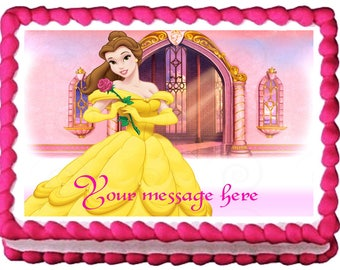 BEAUTY and THE BEAST Belle Image Edible cake topper