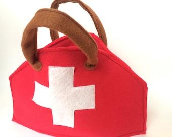Medical bag for nurse -  doctor bag -  first aid kit - medical kit bag - Doctor costume