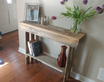 Reclaimed Barn Wood Entry Way / Console Table