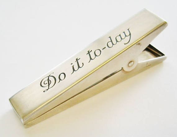 Vintage ...Sterling Silver Notepad, Memo Clip, Paper Holder....(DO IT TODAY).