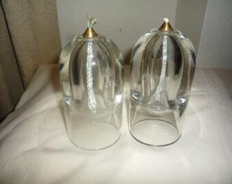 Crystal Oil Lamp Candleholders