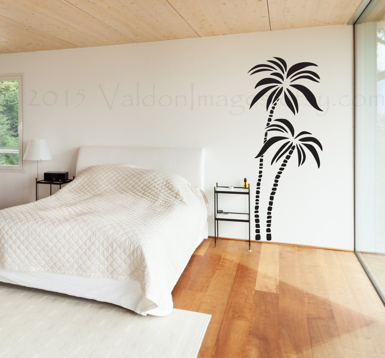 Palm Tree Wall Decal Island Decor Wall Decor Bedroom Living