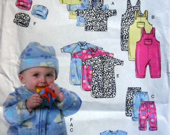 Infants' Jacket Overalls, Pants, Bunting And Hat Butterick B6238 Uncut Sewing Pattern 2015