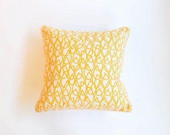"""Custom Pillows in """"Knit"""" Print by Studio Bon for Schumacher in Sun Colorway"""