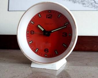"""GERMAN """"PETER"""" ALARM Clock, Vintage 1970's Peter Germany Alarm Table Clock, Vintage German Table Clock """"Peter"""", Peter Germany Table Clock"""