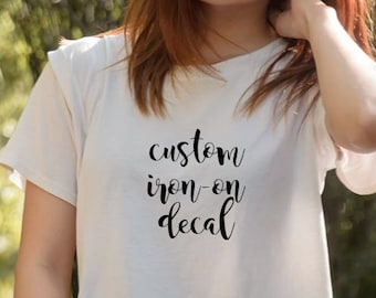 Iron on decal etsy custom iron on decal diy shirt htv decals iron on decals free solutioingenieria Image collections