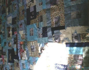 80+ Photo Collage Memory Quilt - full size