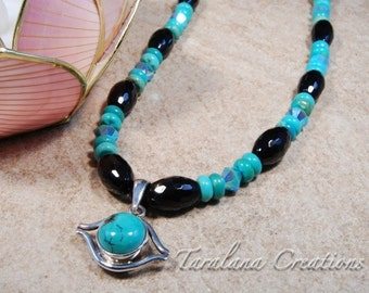 Sterling Silver and Turquoise Third Eye Pendant Necklace