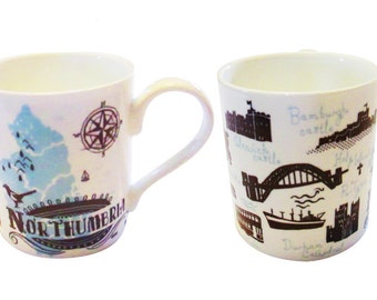 Northumbria Fine Bone China mug