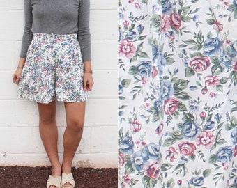 Floral Vintage Shorts Printed High Waist Shorts