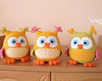PATTERN The Colored Owl PDF crochet toy pattern
