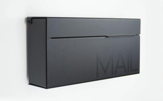 Black Modern And Contemporary Mailbox Louis B Modern Mailbox